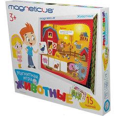 """Магнитный игровой набор Magneticus """"Животные"""", в картонной коробке"""