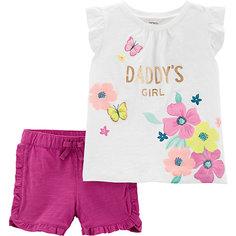 Комплект: футболка и шорты carter's для девочки Carters