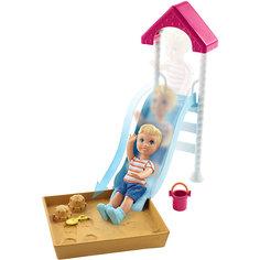 """Игровой набор Barbie """"Скиппер няня"""" Малыш на горке с песочницей Mattel"""