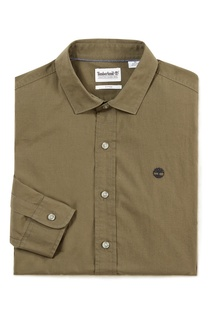 Рубашка оттенка хаки Timberland