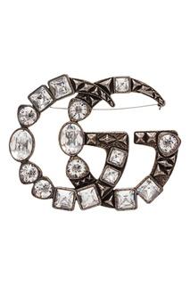 Брошь GG с кристаллами Gucci