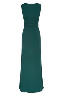 Изумрудно-зеленое платье макси Chapurin