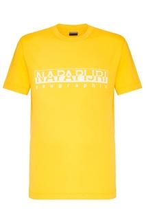 Желтая футболка с логотипом Napapijri