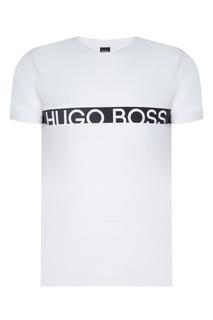 Белая футболка с контрастной полосой Hugo Boss
