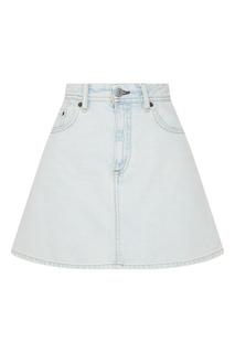 Светло-голубая джинсовая мини-юбка Acne Studios
