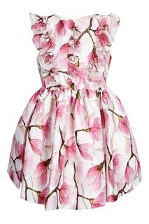 Платье с принтом и рюшами David Charles