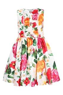 Платье с цветочным принтом и рюшей David Charles