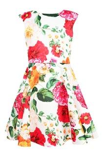 Платье с цветочным принтом David Charles
