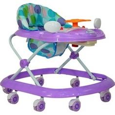 Ходунки Farfello 5020 фиолетовый, принт круги