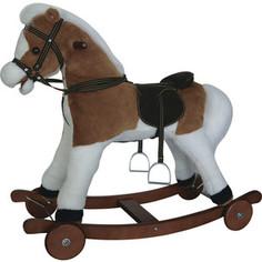 Качалка лошадка Pituso Fandango с колесами Delux св -кор с белым 84x31x70 см gs3033w