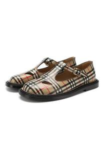 Кожаные ботинки Burberry