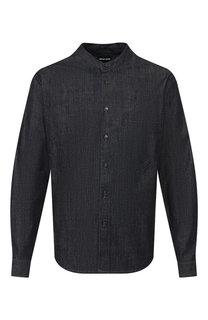 Хлопковая рубашка Giorgio Armani