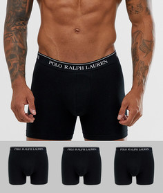 4c4fd4a03c604 Набор удлиненных боксеров-брифов (3 шт.) Polo Ralph Lauren - Черный