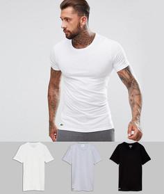 3 узких футболки с круглым вырезом Lacoste - Мульти