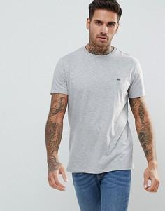 Серая футболка с логотипом Lacoste - Серый