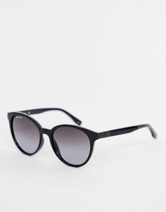 Круглые солнцезащитные очки Lacoste L887S - Черный