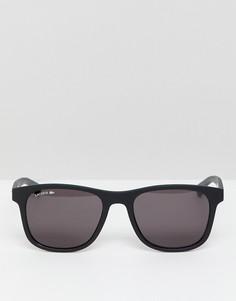 Черные квадратные солнцезащитные очки с матовой оправой Lacoste L884S - Черный