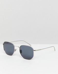 Круглые солнцезащитные очки Lacoste L206SPC - Серебряный