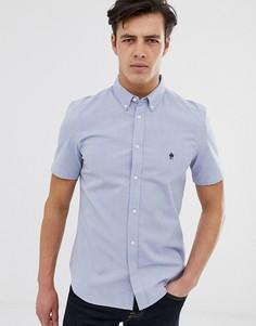 Оксфордская рубашка с короткими рукавами French Connection - Синий