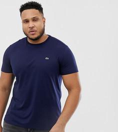 Темно-синяя футболка с круглым вырезом и логотипом Lacoste - Темно-синий