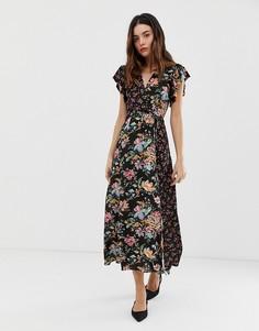 Платье макси с цветочным принтом French Connection Bridget - Мульти