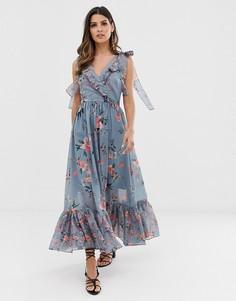 Платье миди с цветочным принтом French Connection - Мульти