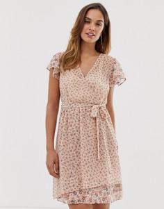 Платье с запахом и цветочным принтом French Connection - Мульти