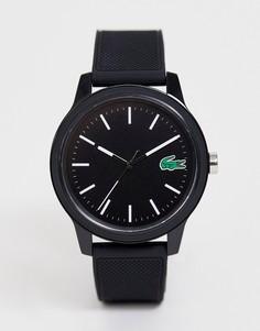 Черные часы с силиконовым ремешком Lacoste 12.12 - Черный