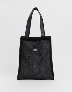 Сетчатая сумка для покупок с ручкой French Connection - Черный