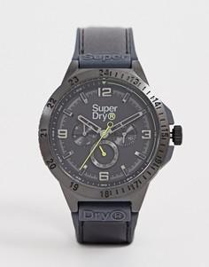 Мужские часы с черным ремешком и хронографом Superdry SYG234BB - Черный