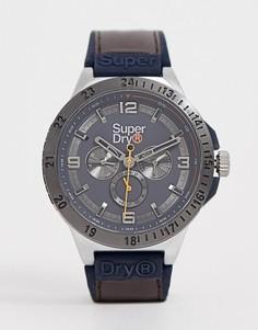 Мужские часы с коричневым ремешком и хронографом Superdry SYG234BR - Коричневый