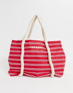 Пляжная сумка-тоут в полоску Superdry Bayshore - Красный