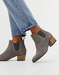 Замшевые ботинки челси на каблуке Superdry Yasmin - Серый