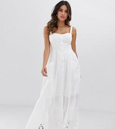 Платье миди с вышивкой ришелье French Connection Ancolie - Белый