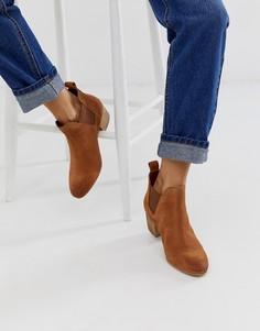 Замшевые ботинки челси на каблуке Superdry Yasmin - Рыжий