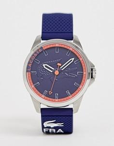 Темно-синие мужские часы с силиконовым ремешком Lacoste - Темно-синий