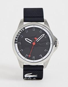 Мужские черные часы с силиконовым ремешком Lacoste - Черный
