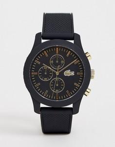 Мужские силиконовые часы черного цвета Lacoste - Черный