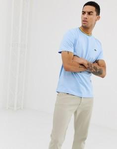 Синяя футболка с контрастной отделкой Lacoste - Синий