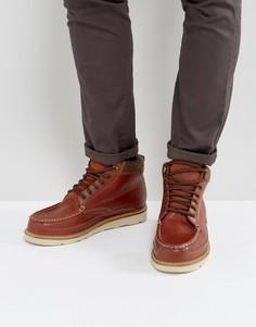 Коричневые кожаные ботинки на шнуровке Superdry Everest - Коричневый