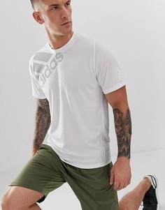 Белая футболка с логотипом Adidas Training - Белый