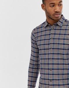 Приталенная рубашка в клетку с длинными рукавами PS Paul Smith - Мульти