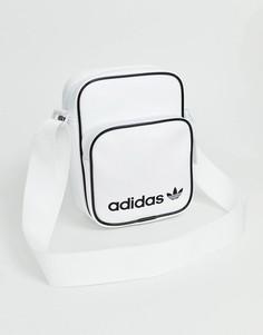 Белая маленькая сумка через плечо adidas Originals - Белый