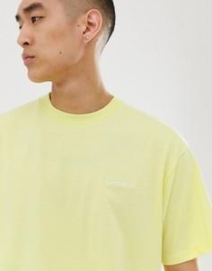 Желтая футболка с короткими рукавами и вышивкой Carhartt WIP - Желтый