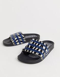 Шлепанцы со звериным принтом adidas Originals - Adilette - Серый