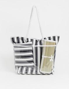 Пляжная сумка с подушкой и ковриком SVNX - Черный 7X