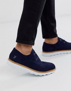 Темно-синие замшевые туфли на шнуровке Farah - Темно-синий