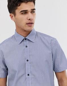Рубашка классического кроя в полоску Esprit - Синий