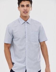 Синяя рубашка классического кроя с короткими рукавами Esprit - Синий