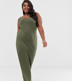 Трикотажное платье макси Vero Moda Curve - Зеленый